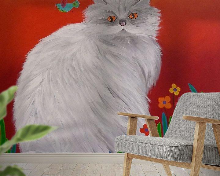 Beispiel fototapete: Persian Cat von Yvonne Klaassens