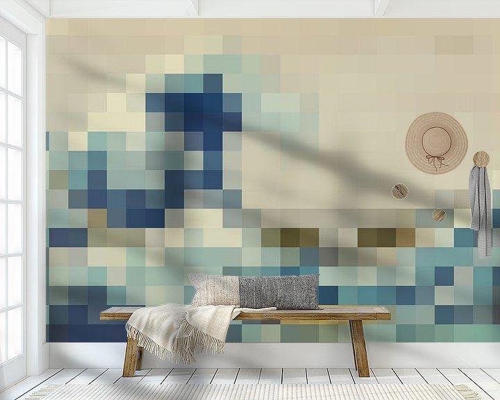 Sfeerimpressie behang: Pixel Art: De Grote Golf van JC De Lanaye