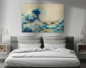 Pixel Art: Die große Welle sur JC De Lanaye