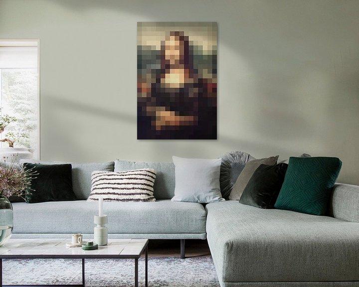 Beispiel: Pixel Art Mona Lisa von JC De Lanaye