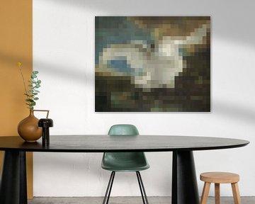 Pixel Art: Der bedrohte Schwan von JC De Lanaye