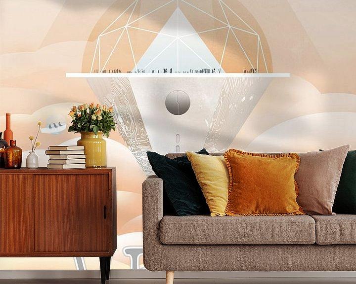 Sfeerimpressie behang: Venus - See you at the cloud observatory van Visions of the Future