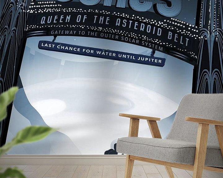 Sfeerimpressie behang: Ceres - Queen of the asteroid belt van Visions of the Future