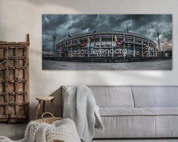 de Kuip (stadion Feyenoord) van Rene Ladenius Digital Art