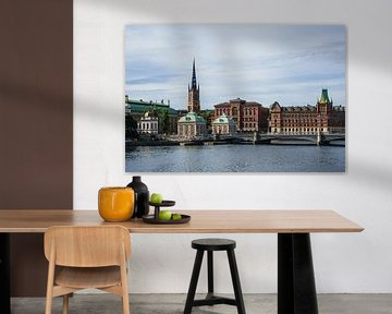 Blick auf die schwedische Hauptstadt Stockholm von Rico Ködder