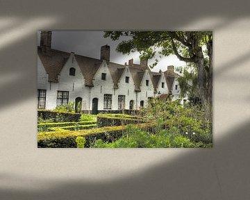 Verborgen binnenhofje in Brugge van Marie-Lise Van Wassenhove