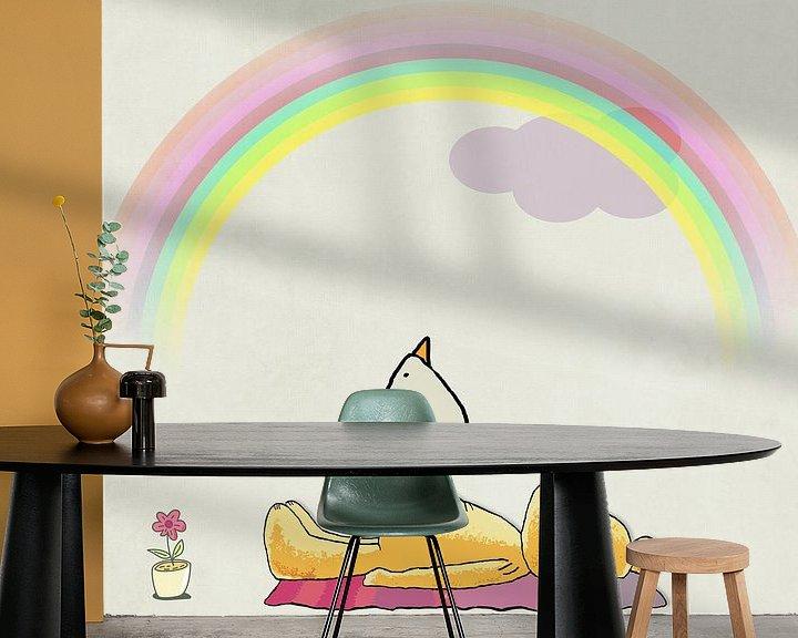 Beispiel fototapete: Farbenbogen Piep von Marion Tenbergen