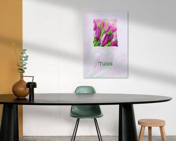 Sfeerimpressie: Bloemen met tulpen van Marion Tenbergen