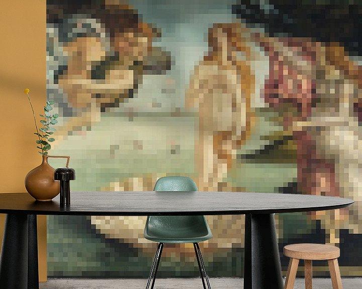 Sfeerimpressie behang: Pixel Art: De Geboorte van Venus  van JC De Lanaye