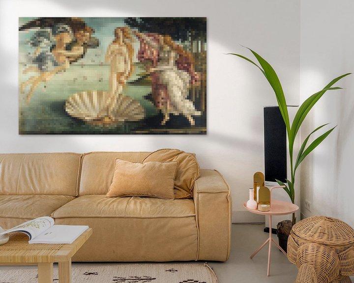 Sfeerimpressie: Pixel Art: De Geboorte van Venus  van JC De Lanaye