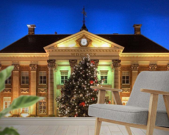 Sfeerimpressie behang: Kerstboom voor het Stadhuis van Groningen van Frenk Volt