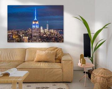 Blick auf Das Empire State Building von Frenk Volt