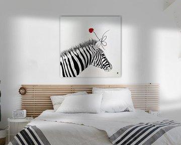 HeartFlow Zebra von Helma van der Zwan