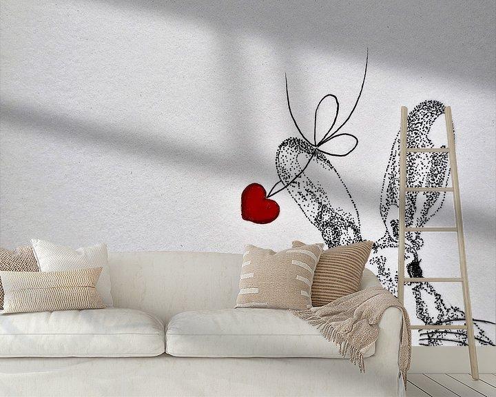 Sfeerimpressie behang: HeartFlow Haas van Helma van der Zwan