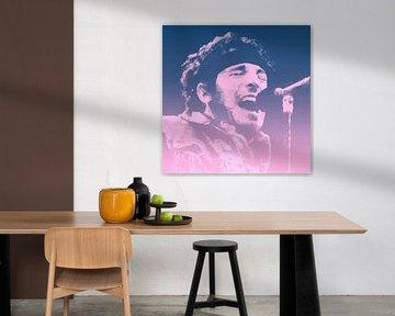 Bruce Springsteen Illustration Pop Art von Felix von Altersheim