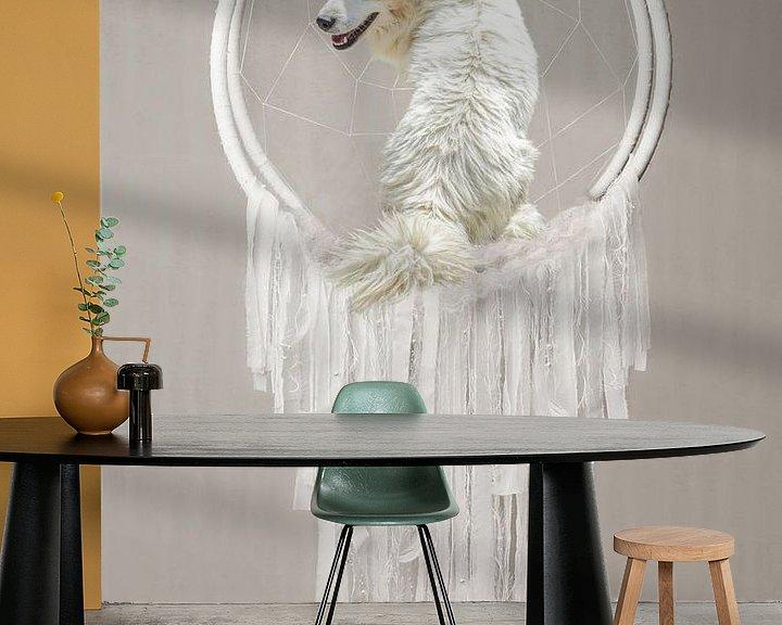Sfeerimpressie behang: Pepe is the dreamcatcher van Natasja Claessens