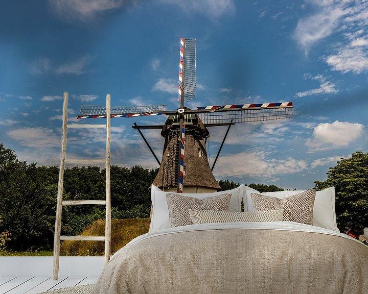 Sfeerimpressie behang: Nederlandse Windmolen van Brian Morgan