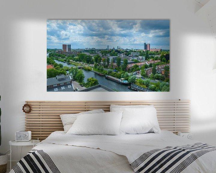 Beispiel: Havenbeeld: Skyline van Tilburg gezien vanuit grote hoogte von Freddie de Roeck