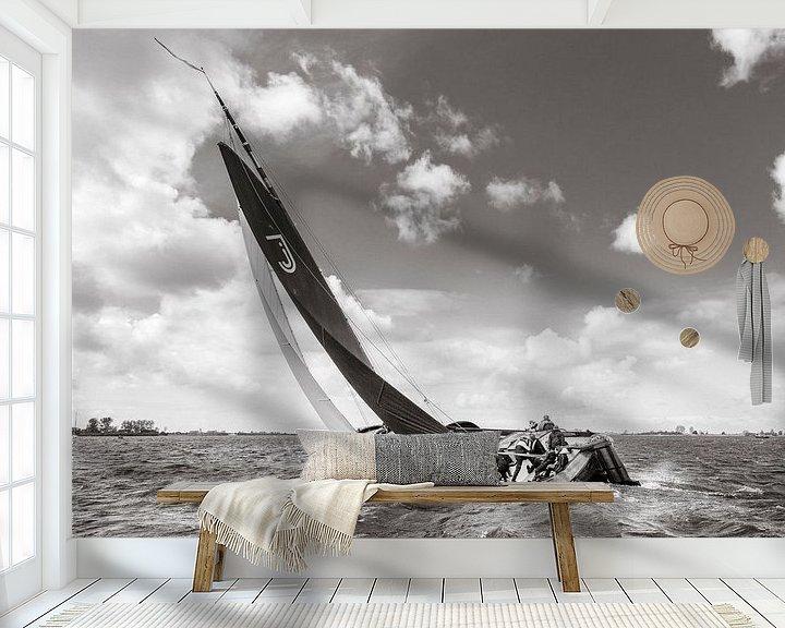 Sfeerimpressie behang: Skûtsje Jonge Jasper van ThomasVaer Tom Coehoorn
