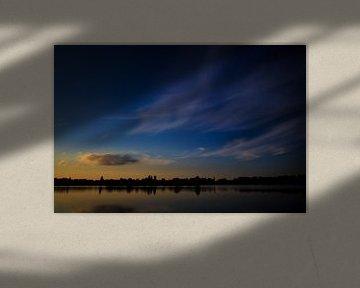 Zonsondergang Rijkerswoerdse Plassen van Robert Wiggers