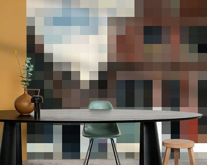 Sfeerimpressie behang: Pixel Art: Het Straatje van JC De Lanaye