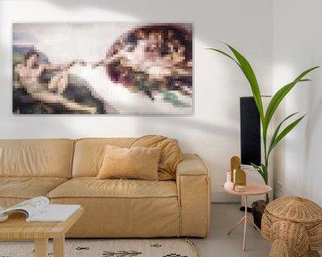 Pixel Art: Die Erschaffung von Adam von JC De Lanaye