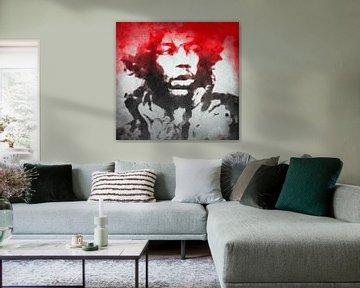 Motiv Jimi Hendrix Watercolour Pop Art van Felix von Altersheim