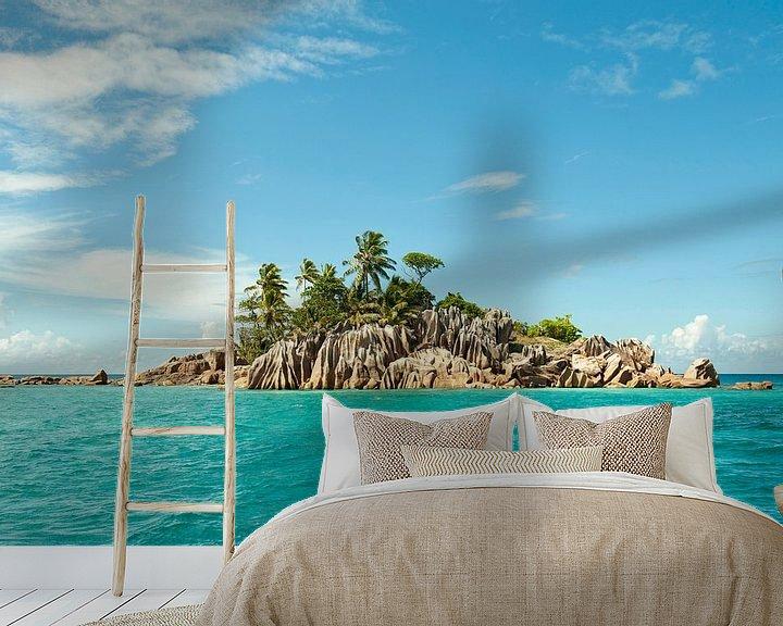 Beispiel fototapete: Prachtig onbewoond eiland in een azuurblauwe zee von Color Square