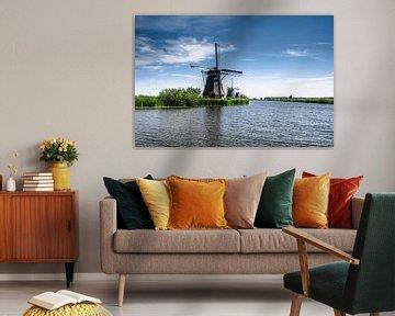 Les moulins Overwaard de Kinderdijk