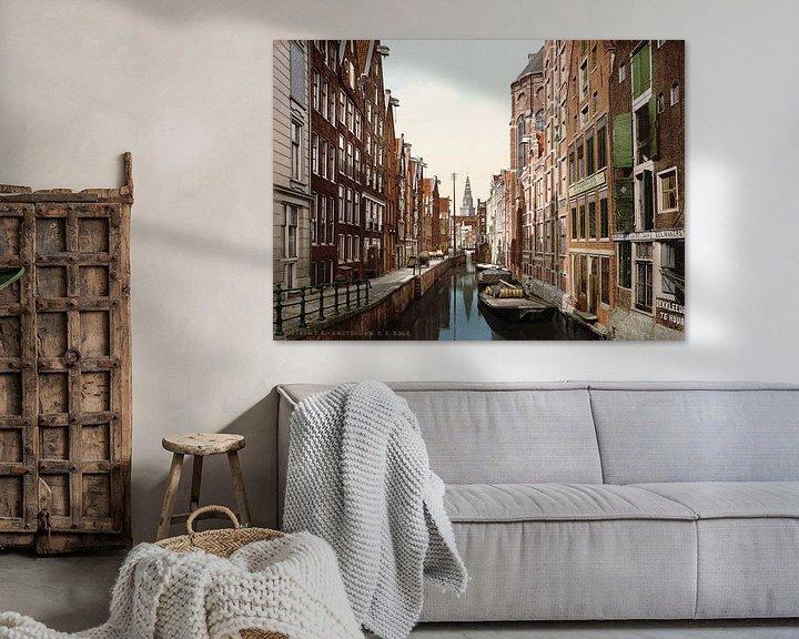 Sfeerimpressie: Oudezijds Kolk, Amsterdam van Vintage Afbeeldingen