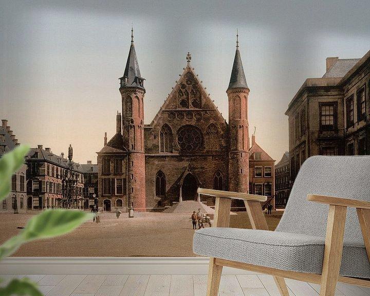 Sfeerimpressie behang: Ridderzaal, Binnenhof, Den Haag van Vintage Afbeeldingen
