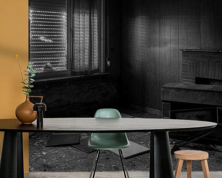 Sfeerimpressie behang: Verlaten kamer van Sander Strijdhorst