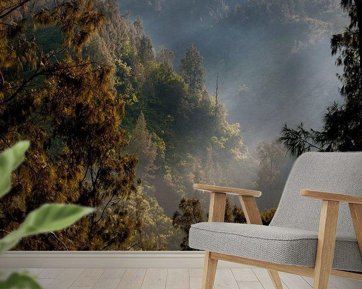 Beispiel fototapete: Zonsopkomst op de vulkaanwand von Sander Strijdhorst