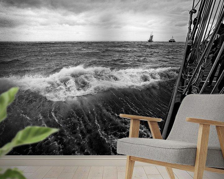 Sfeerimpressie behang: Stormachtig van Leen Van den Abeele