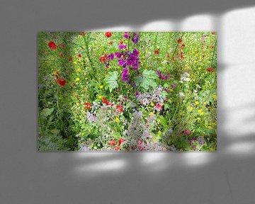 Blühende Wildblumen im Juli von Evert Jan Luchies