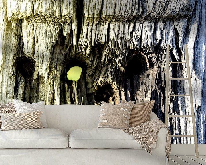 Beispiel fototapete: Kijkgaatje hout von Stef De Vos