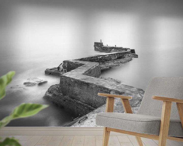 Sfeerimpressie behang: Zigzag pier van Roelof Nijholt