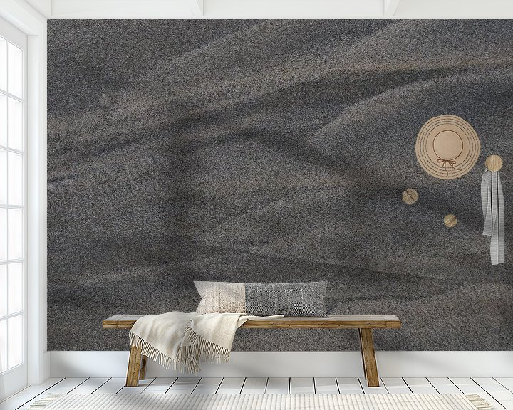 Sfeerimpressie behang: Vierkant zand van Jetty Boterhoek