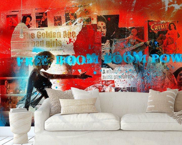 Sfeerimpressie behang: Free Boom Boom Pow van Feike Kloostra