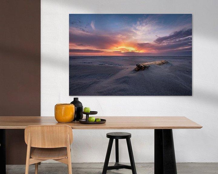 Sfeerimpressie: Zonsondergang Schiermonnikoog van Edwin van Wijk