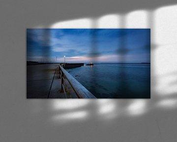 Helgoland met uitzicht op Noordzee van Randy van Domselaar