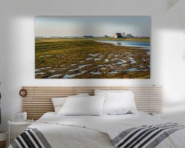 Noordwaardpolder in de Brabantse Biesbosch van Ruud Morijn