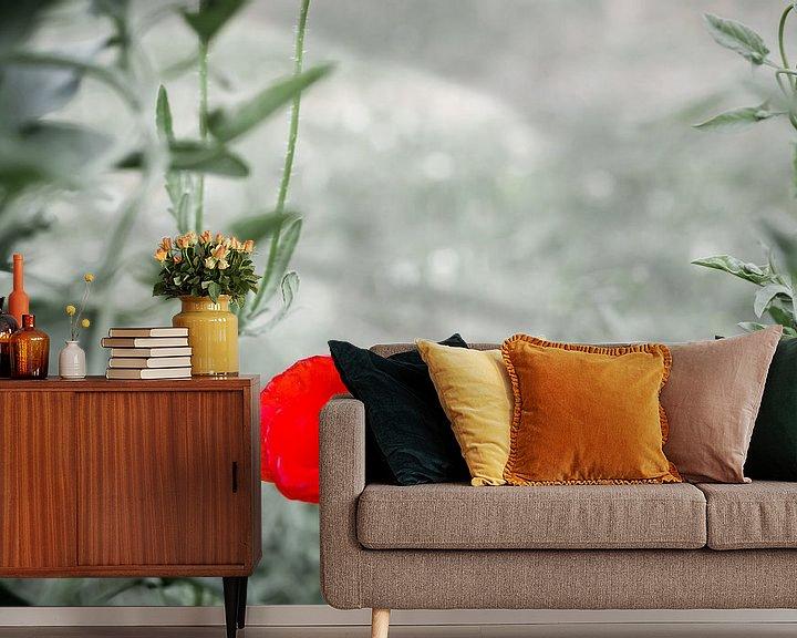 Sfeerimpressie behang: Vergankelijke schoonheid: klaproos van Sybren Visser