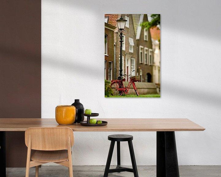 Sfeerimpressie: Rode fiets, Muiden van Sybren Visser