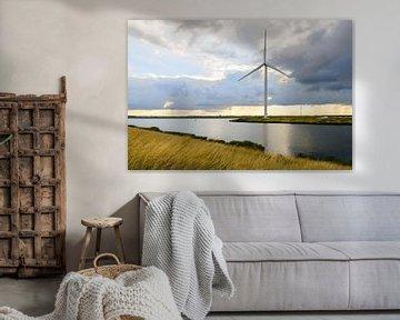 Windmolen vroeg in de ochtend van Ruud Morijn