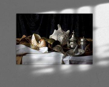Stilleven met schelpen van Fleur Halkema
