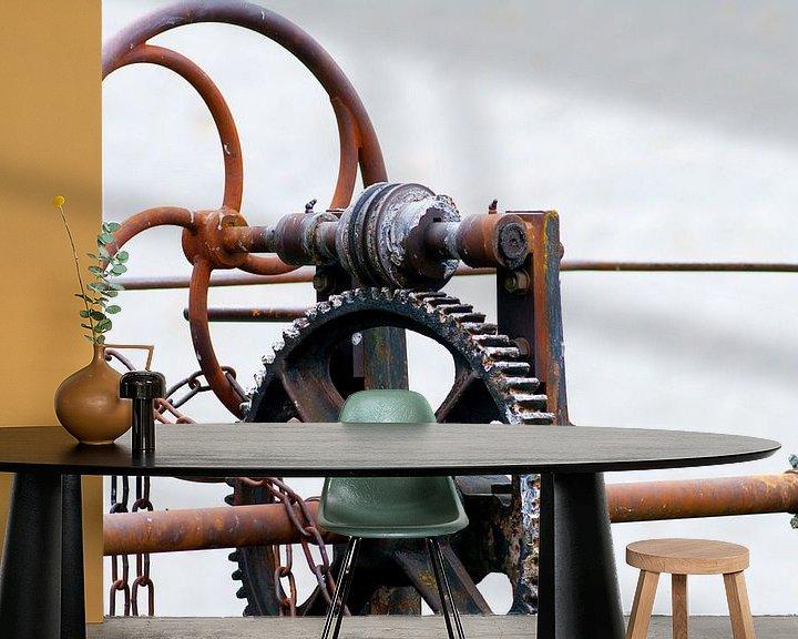 Sfeerimpressie behang: Mechaniek van Sybren Visser