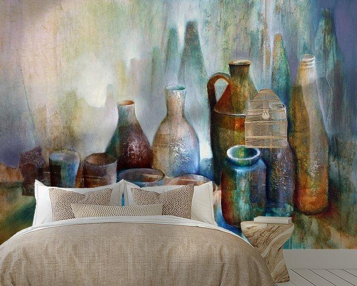 Beispiel fototapete: Stillleben mit blauer Schale von Annette Schmucker