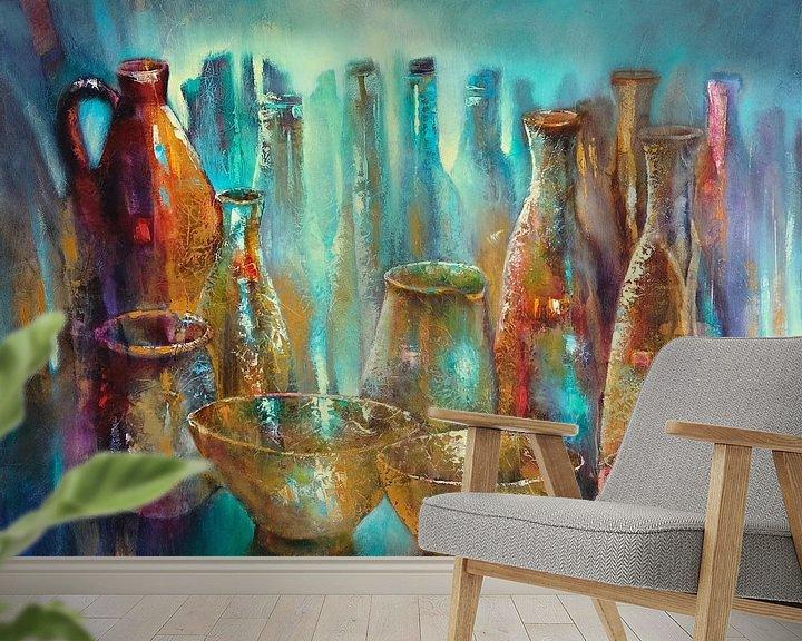 Beispiel fototapete: Stillleben mit zwei goldenen Schalen von Annette Schmucker