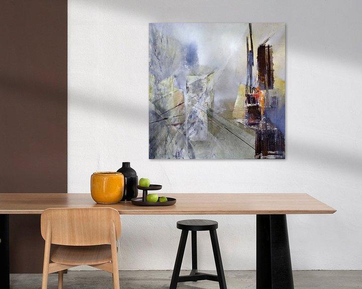 Beispiel: Abstrakte Komposition in weiss von Annette Schmucker